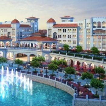 BAYSIDE DEVELOPMENT, CRYSTAL LAGOON – LAKE RAY HUBBARD - Trolley - Rockwall Real Estate - Cyndi Garrett - Bayside Fountain
